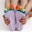 1 Pair Yoga Five-fingers Socks with Anti-slip Granules  DB