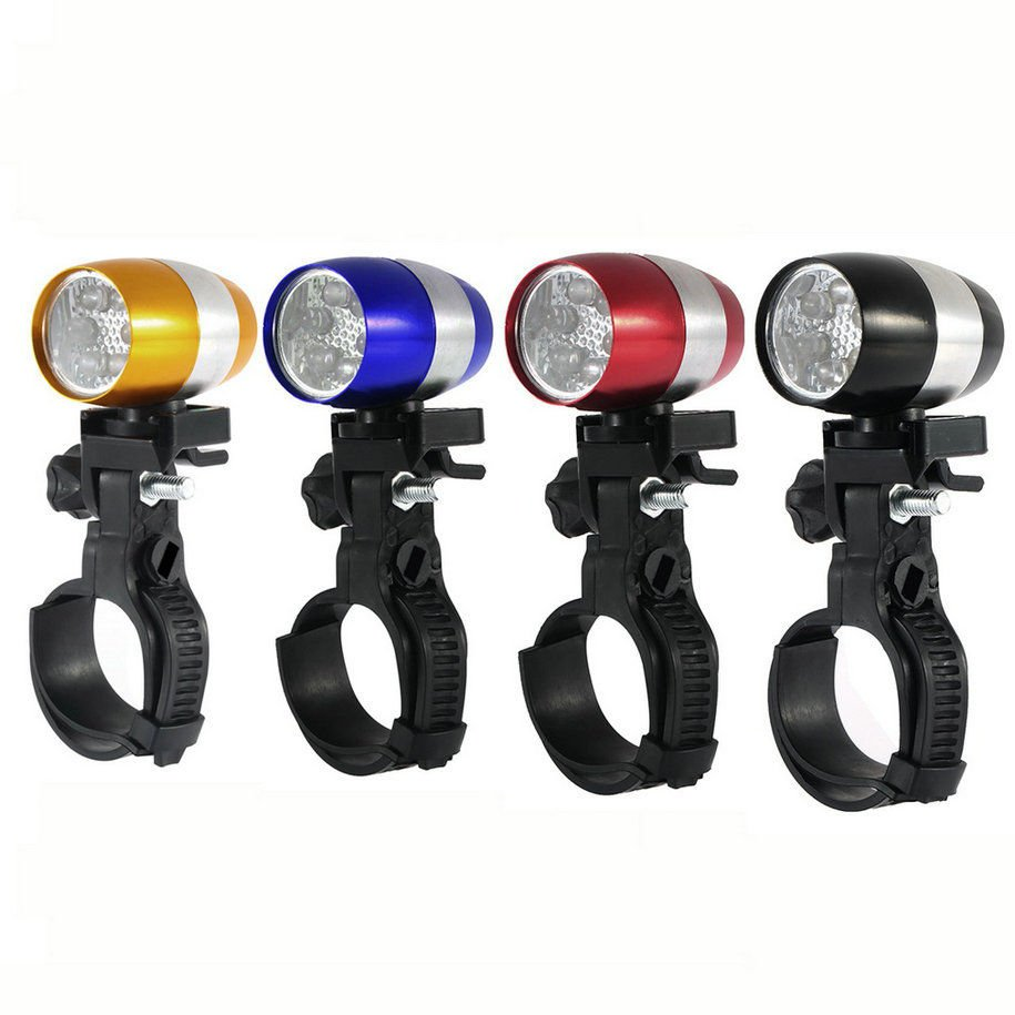 2 x Cycling Bicycle Head Front Flash Light Warning Lamp Safety Waterproof blue