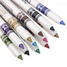 12Colors Glitter Lip liner Eye Shadow Eyeliner Pen Makeup Cosmetic Set db