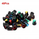 40x Assorted Color Face Potentiometer Knob Cap for 6mm Knurled Shaft DB