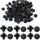 100pcs Plastic Rivet Fastener Mud Flaps Bumper Fender Push Clips 8mm for Nissan DB