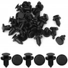 30 Pcs Car Interior Door Trim Clips Black Nylon Rivet Fastener for Honda DB