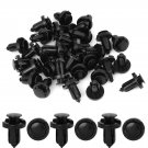 30pcs Plastic Trim Boot Rivets Retainer Clip Black 10mm Dia Hole for Honda Acura DB