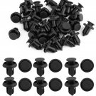 25 Pcs 10mm Hole Auto Plastic Rivet Fastener Mud Flaps Bumper Fender Push Clips db
