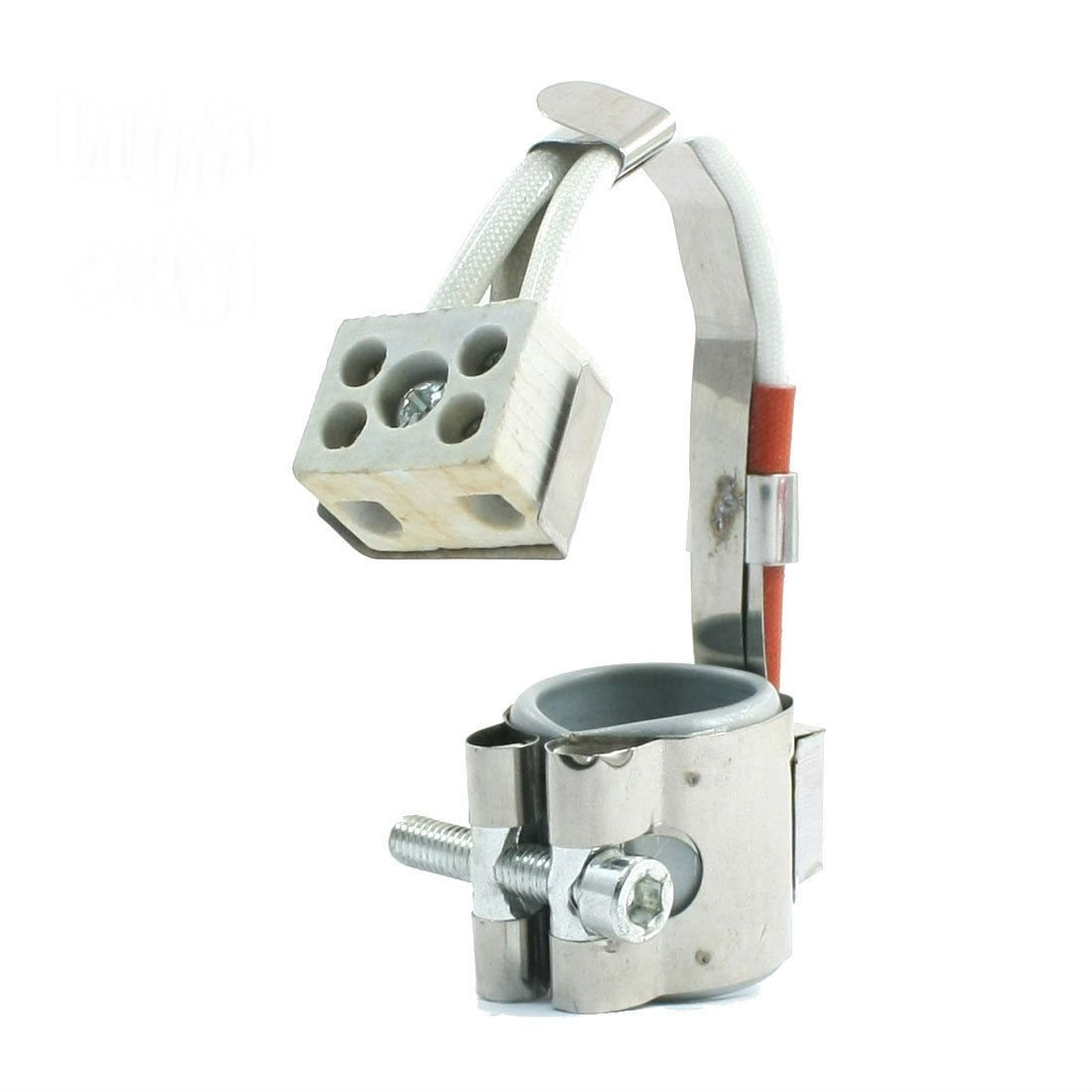 110V 300W 25mmx30mm Metal Screw Fixing Circular Flexible Mica Band Heater db