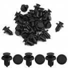 30 Pcs Plastic Boat Rivets Trimming Clip Clamps Black 10mm Hole for Car Auto db