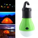 Outdoor Hanging 3LED Camping Tent Light Bulb Fishing Lantern Lamp 1 Pcs  green Color