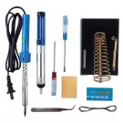 9in1 60W 220V Electric Soldering Tools Kit Set Iron Stand Desoldering Pump  DB