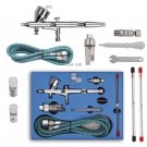 Pro Dual Action 3 Airbrush Air Compressor Kit Craft Cake Paint Art Spray Gun DB