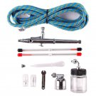 Dual Action Airbrush Set 0.2mm/0.3mm/0.5mm Needle Air Brush Spray Gun Paint Art DB