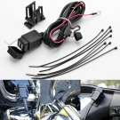 Waterproof 12V 2.1A Dual 2 USB Port Power Socket Mobile Charger Motorcycle Car DB