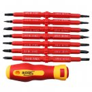 7 pcs electrician's Insulated Electrical Hand Screwdriver Tools db