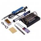9in1 DIY Electric Solder Starter Tool Kit Set With Iron Stand Desolder Pump 220V DB