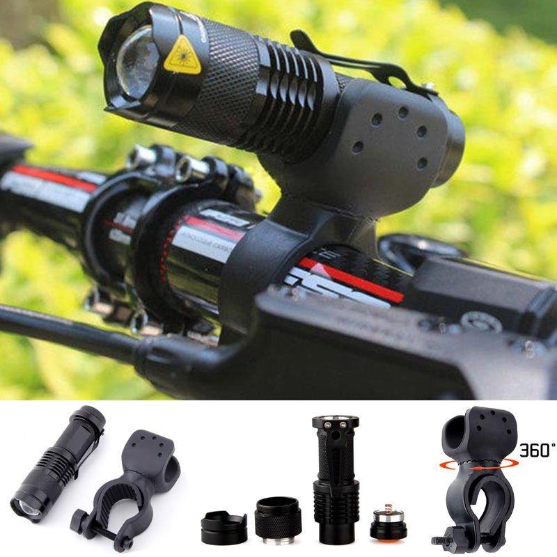 1200lm Cree Q5 LED Cycling Bike Bicycle Head Front Light Flashlight w/ 360 Mount db