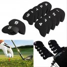 10 Golf Club Iron Putter Head Cover HeadCovers Protect set Neoprene Black db