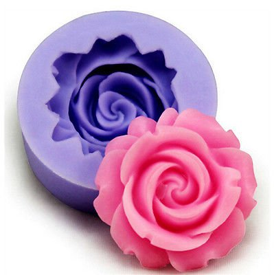 3D Rose Silicone Fondant Cake Chocolate Sugarcraft Mold Cutter Tools 1 Pcs