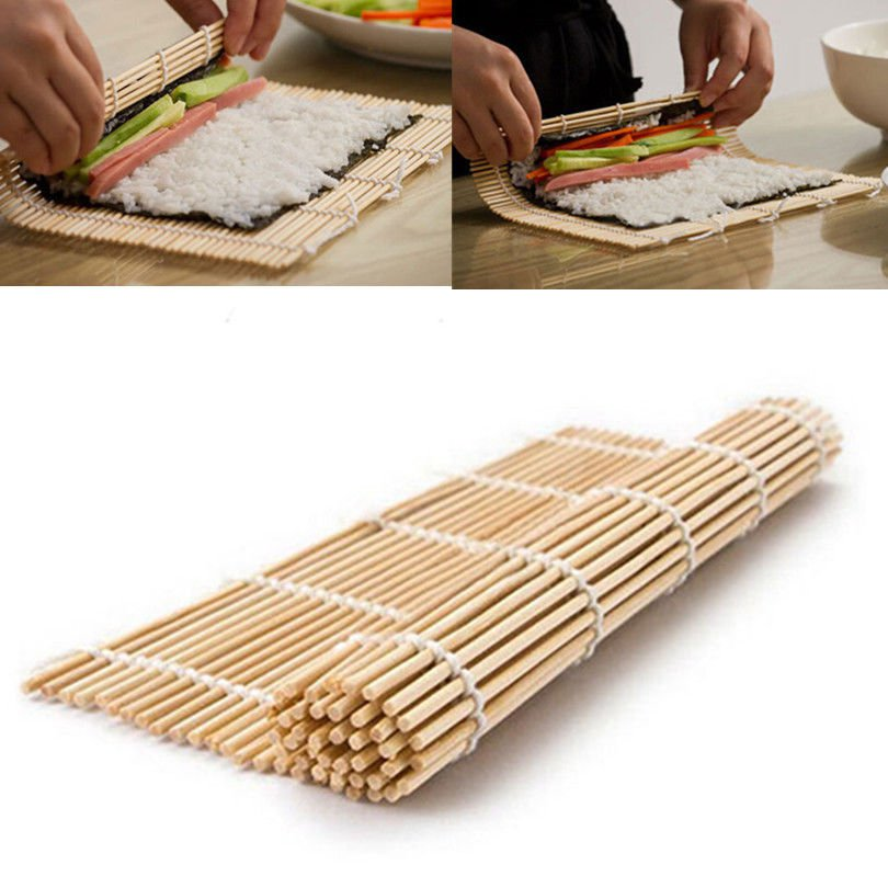 Sushi Kimbap Rolling Maker Bamboo Material Roller Mat  db