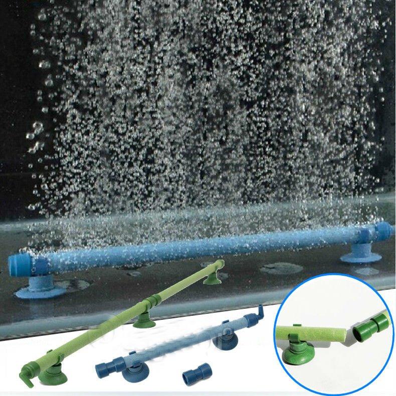 14 Inch Green Fish Tank Aquarium Decor Air Stone Bubble Wall Tube db