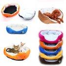 Small Medium Dog Puppy Cat Pet Soft Cotton Fleece Cozy Warm Nest Bed Mat House db