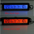 Car Auto LCD Digital Clock Thermometer Temperature Voltage Meter Monitor db