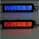 Car Auto LCD Digital Clock Thermometer Temperature Voltage Meter Monitor db