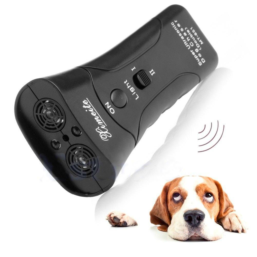 Ultrasonic Dog Chaser Stops Aggressive Animal Attacks Repeller With Flashlight db