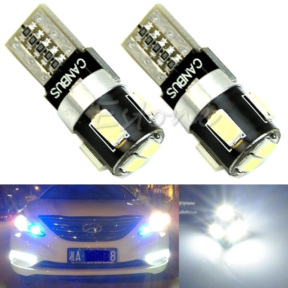 2x T10 W5W 6-LED 5630 SMD FPC CANBUS Error Free Car Wedge Light Lamp Bulb white
