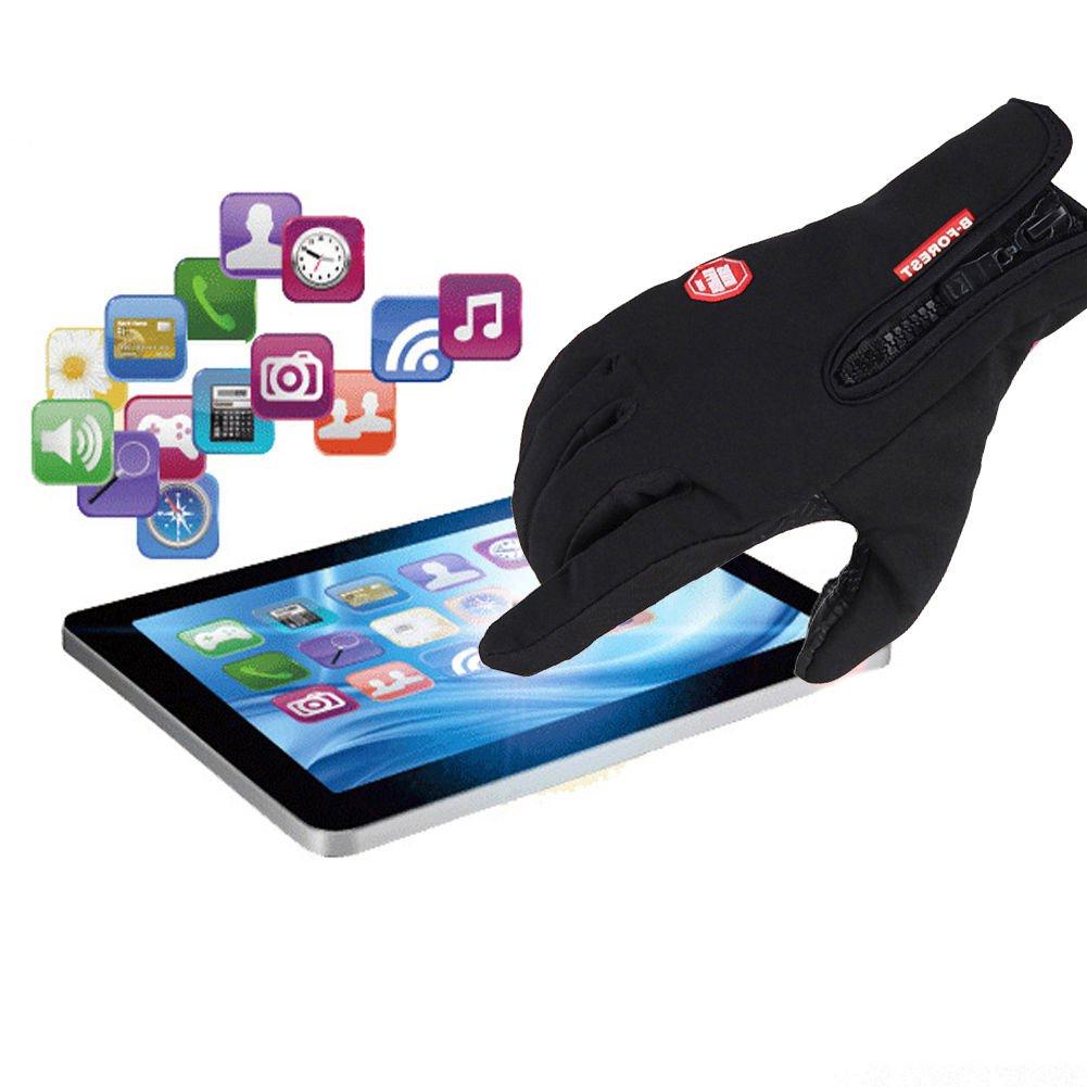 Windproof Waterproof Touch Screen Warm Glove Mittens Fleece Outdoor Cycling Size M