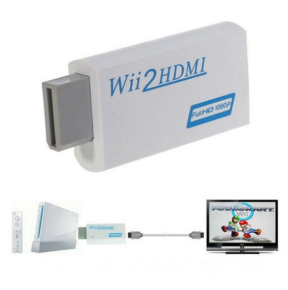 Wii To HDMI 1080P Upscaling Converter Adapter with 3.5mm Audio Output dbdb