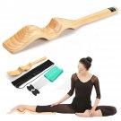 Wooden Ballet Foot Stretch Stretcher Elastic Band Dance Gymnastics Arch Enhancer db