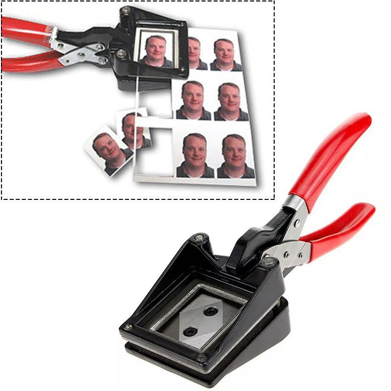 Handheld ID Card License Photo Picture Punch Cutter Plastic Photo Cutter 35*45mm db