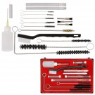 23pcs Air Tool Paint Spray Cleaning Wire Brush Kit Fit HVLP Gravity Airbrushes dbd