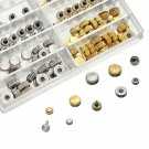 150pcs Mixed Silver Gold Watch Crown Repair Parts Tool 10 Size Assortment Set ddb