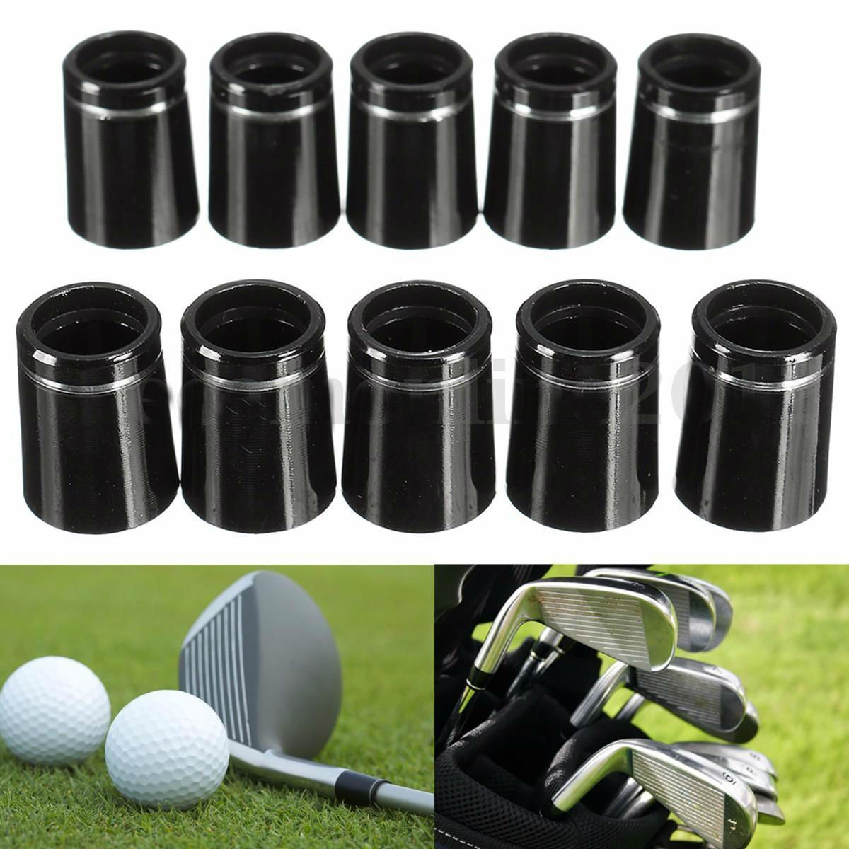 "10 X 3/4"" Length Golf Iron Ferrules With Single Silver Ring For 0.370 Iron Shaft dbd"
