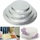 1 x Silver Round Cake Thick Drum Board Stand Holder Strong Base For Wedding Birthday 8 Inch ddb
