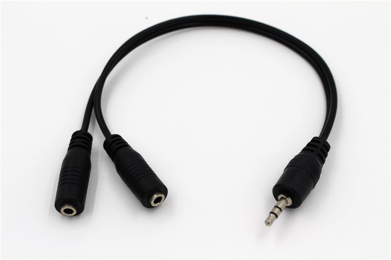 3.5MM Stereo Male to Dual 3.5mm Stereo Female Splitter Adapter   db