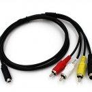 AV A/V TV Video Cable Cord Lead For Sony Camcorder Handycam DCR-DVD405E DVD406E N
