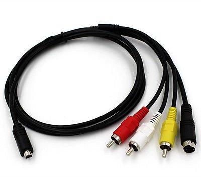 AV A/V TV Video Cable Cord Lead For Sony Camcorder Handycam DCR-DVD106E DVD108E NN