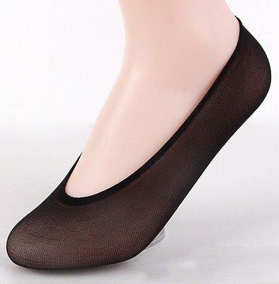 (10pair)Women Pringle Invisible No Show Low Cut Liner Trainer Shoe Secret Sock Black Color