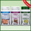 GARCINIA CAMBOGIA + FORSKOLIN + COLON CLEANSE DETOX Capsules Weight Loss Pills gf