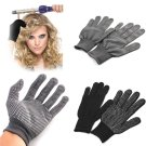 2pcs Heat Proof Resistant Protective Gloves for Hair Styling Tool Straightener Blackgb