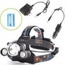 30000LM LED Headlight Flashlight Torch 3x XM-L T6 Headlamp Head Light 18650 ff