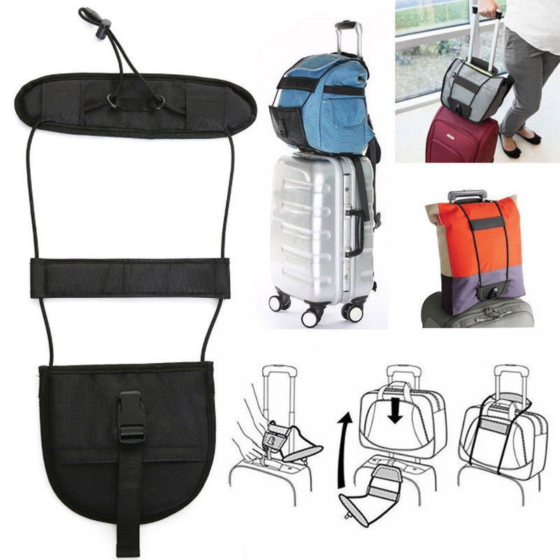 Travel Luggage Bag Bungee Suitcase Belt Backpack Carrier Strap Easy to Carry bb