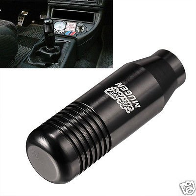 Black Aluminum 5 6 Speed Manual Gear Shifter Stick Shift Knob Lever For Honda ff