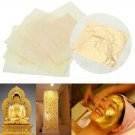 10 Pcs 24K Pure Gold Edible Real Gold Leaf Sheet Gilding Craft Mask SPA 4.33cm .dd