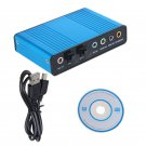 USB External Channel 5.1 S/PDIF Optical Sound Card Box DAC Audio For PC Laptop hh