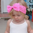 7 pcs Headband Toddler Lace Bow Flower Hair Band Accessories for kid baby girls
