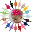 20PCS Headband Kids Girl Baby Toddler Bow Flower Hair Band gg