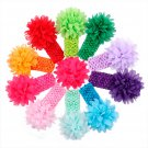 10pcs Kids Girl Baby Toddler Cute Flower Headband Hair Band Accessories Headwear jj