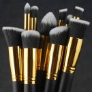 Makeup Brush Tool Set Cosmetic Eyeshadow Face Powder Foundation Lip Brush 10 pcs brushes